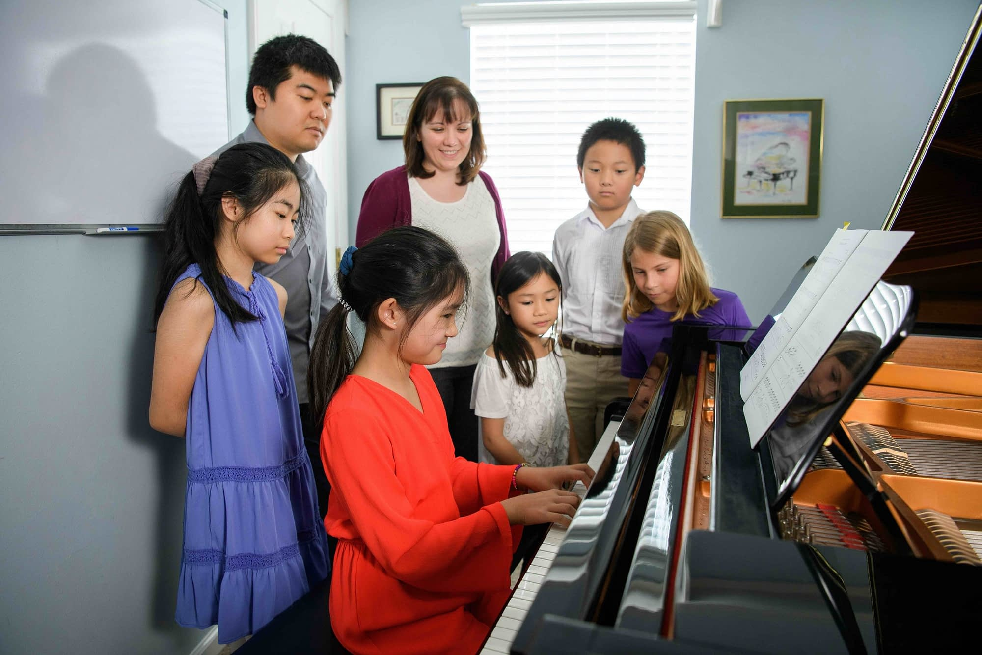 Group class piano lesson