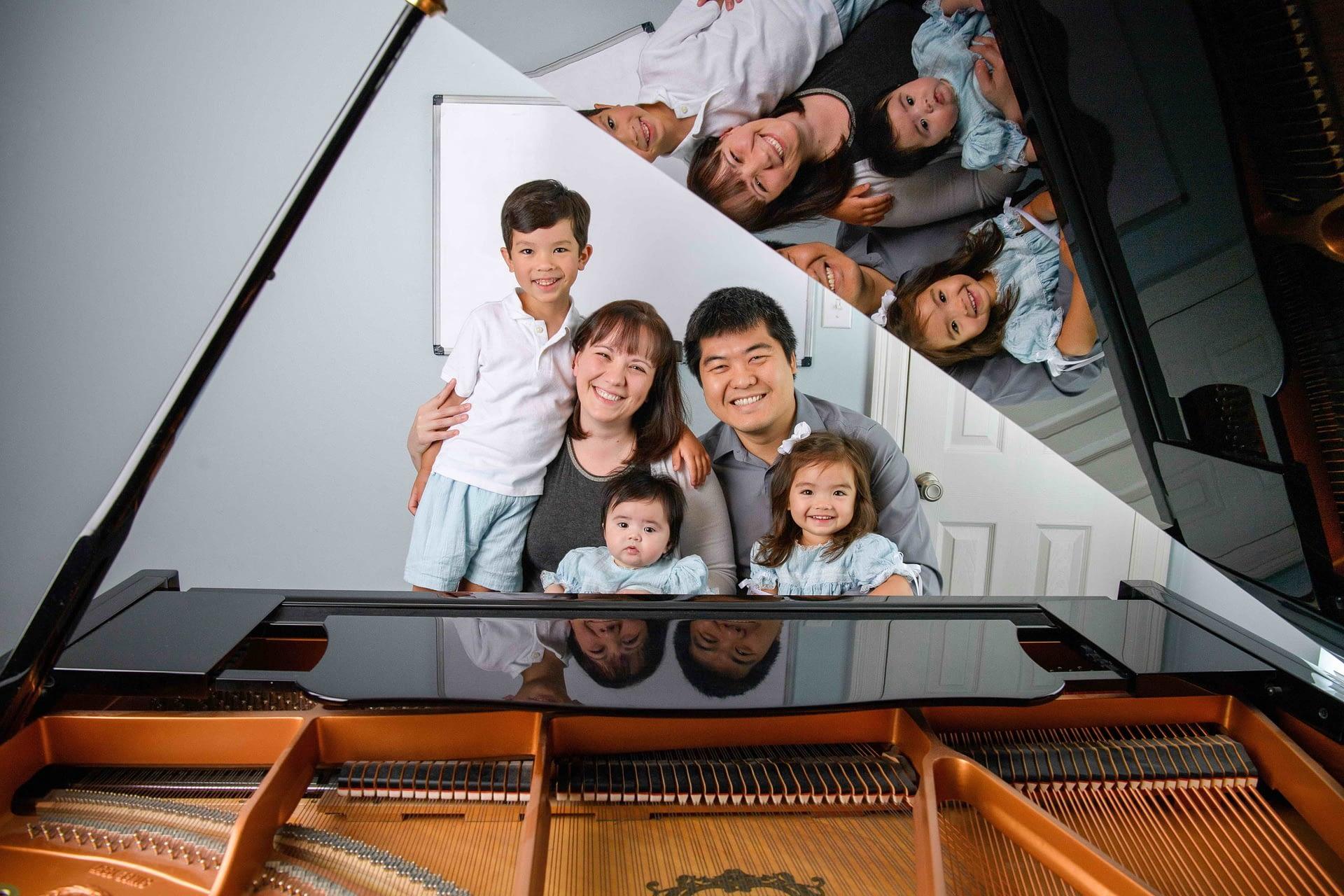 family piano lesson