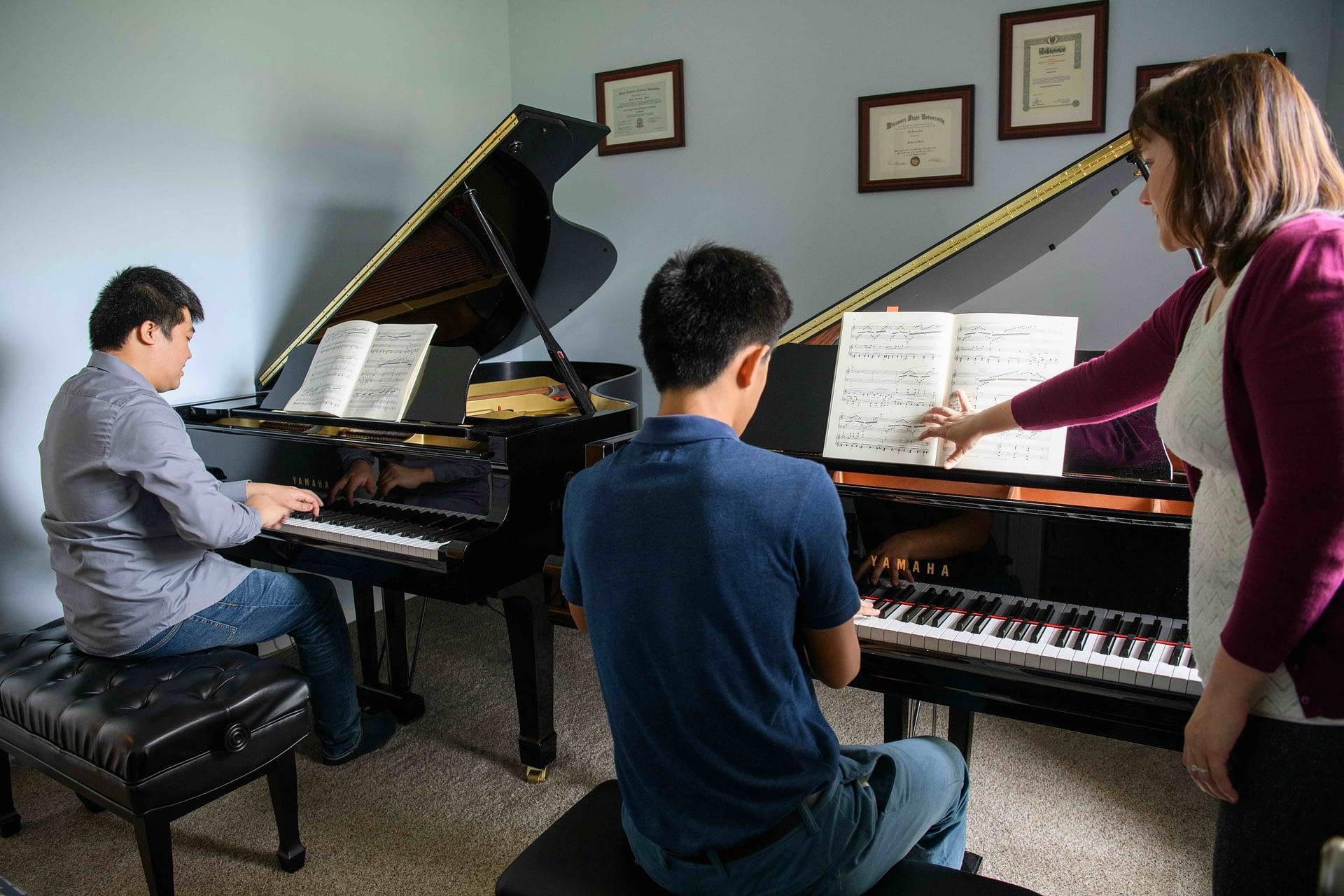Student Piano Concerto lesson